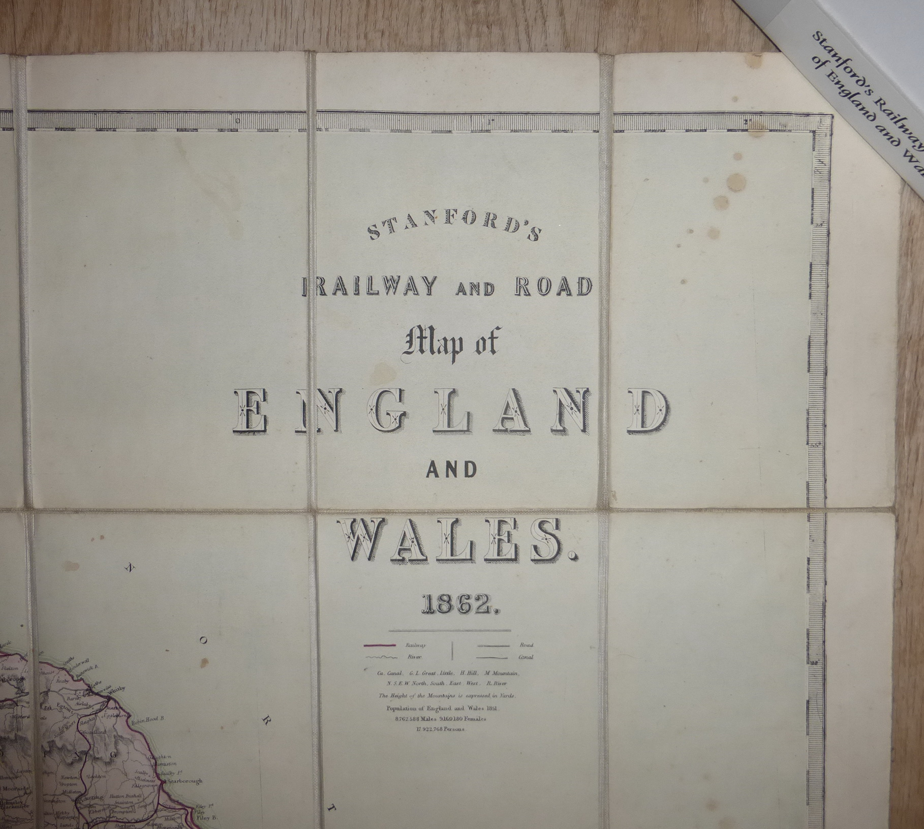 Driving Map Of England And Wales.Great Britain Maps For Sale
